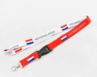 The Netherlands flag reversible lanyard