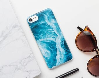 iPhone Case - Waves - Style 2 - Water iPhone 7 Case, Ocean iPhone Case, Waves iPhone Case, Minimalist iPhone Case, Matte iPhone Case