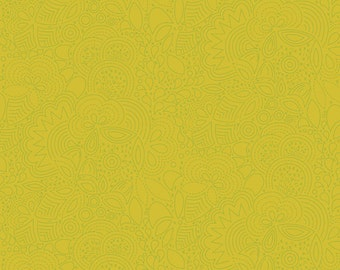 Seventy-Six by Alison Glass Stitched in Chartreuse A-8450-V cotton fabric andover modern material quilting supplies green