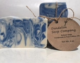 apple blend cold process soap - handmade all natural