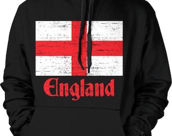 Flag of England, St George's Cross, English Hooded Sweatshirt, NOFO_00036