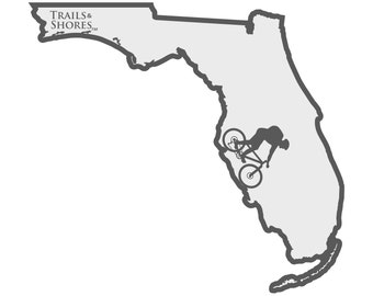 Florida Mountain Biking Decal