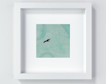 The flying bird, 13 x 13 cm and 20 x 20 cm