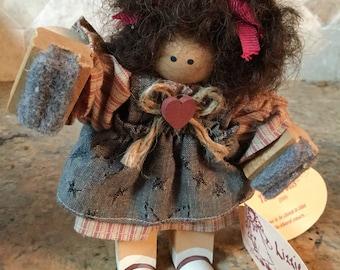 Lizzie High Little Ones folk art doll.