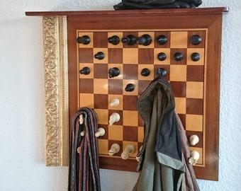 Extravagant wardrobe chess game Coathook coat hanger coat hook wall Decoration