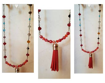 Collana, necklaces,  necklaces boho, collane shabby  necklaces etnic, necklaces tribal, necklaces agata, necklaces cristalli