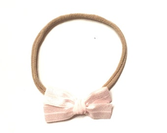 Ribbon bow || Ballet pink