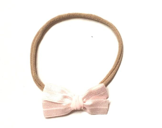 Ribbon bow || Ballet pink