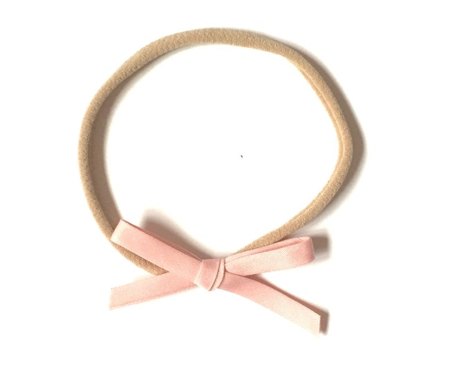 Mini Retro Headband || Light pink