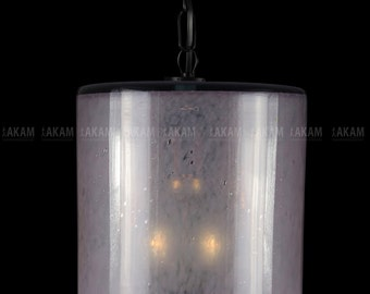 """Luminaire suspended blown glass """"ROSE OPAQUE"""""""