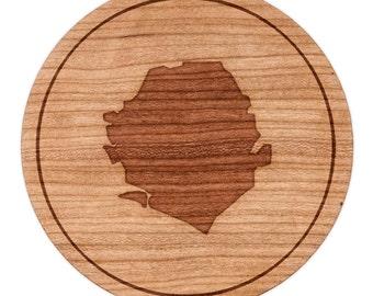 "Sierra Leone Circle Magnet, Round Magnet, 2"" Refrigerator Magnet"