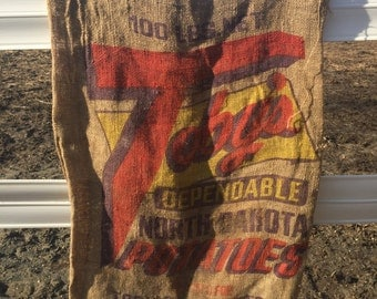 Burlap feed sack