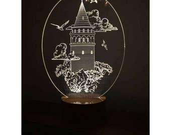 3D Galata Tower Lamp