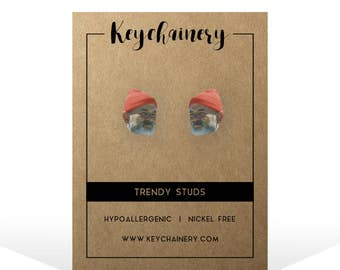 Steve Zissou Stud Earrings - Bill Murray Earrings