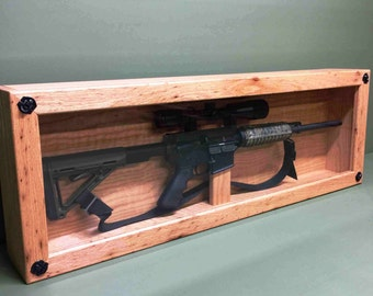 Handcrafted Oak AR-15 Display Case