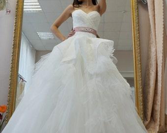 Ball gown wedding dress Bianka, wedding dress with Basque, sweetheart neck line  wedding dress, puffy wedding dress,