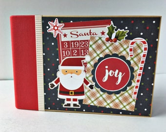 Christmas Scrapbook Album, Premade Scrapbook, Christmas Mini Album, Family Scrapbook, Mini Scrapbook, Christmas Album, Gift for Mom