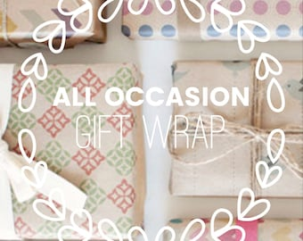 Gift Wrap + Personal Gift Tag || Eco-Friendy Wrapping Paper || Tin Wicks Candle Co.