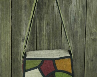 Hemp Mosiac Messenger bag