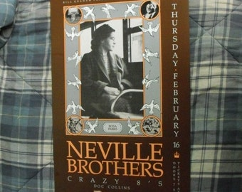 Genuine Neville Brothers F76 Fillmore Poster