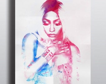 Nicki Minaj poster, Abstract Illustration Celebrity Singer R&B Music