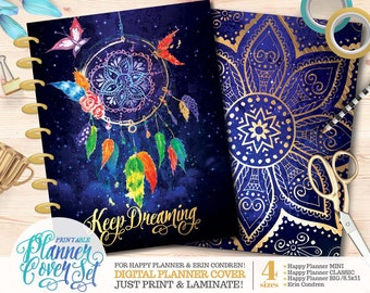 "Printable Planner/Binder Cover Set - ""Dreamcatcher"" 
