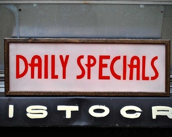 Daily Specials Art Deco Custom Open Sign Light Box