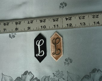 EMBROIDERED MONOGRAMMED INITIAL – L