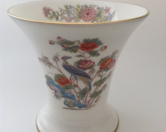 Vintage Wedgwood Kutani Crane Small Bone China Vase