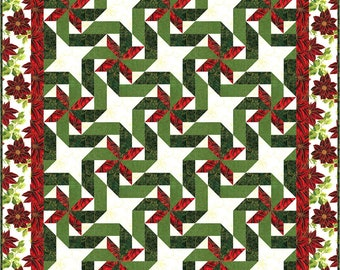 Gift Wrapped - pieced quilt pattern in 3 sizes plus table runner & placemats