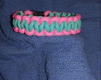 Teal / Hot Pink Paracord Bracelet