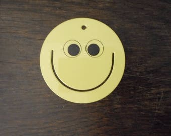 Vintage, Yellow, 1980s Smiley Face, Paper Clip, Plastic, RARE