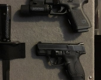Pistol rack, pistol hanger, gun rack, gun safe mount, gun safe pistol holder, Laser Engraved