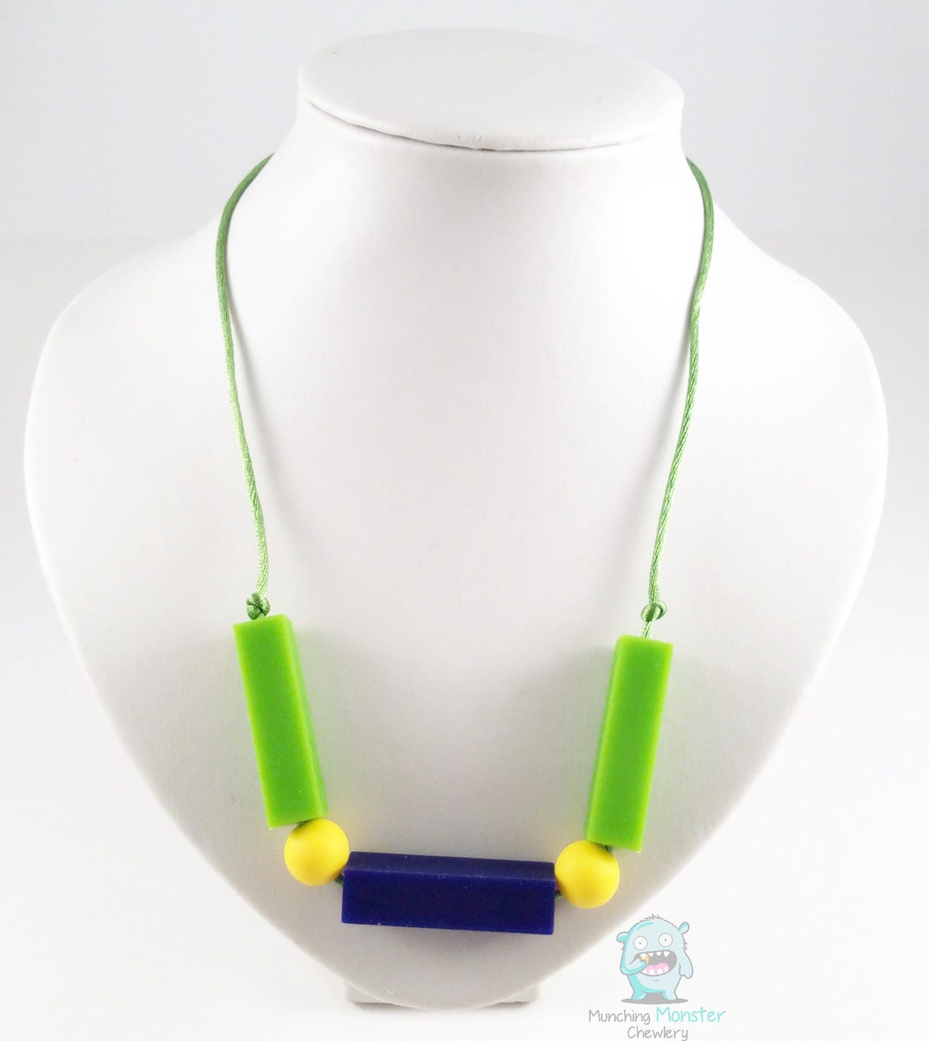 Block Bead Sensory Necklace chewable silicone fid necklace