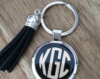 Monogram Keyring zipper pull