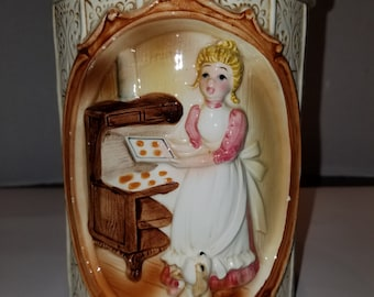 """Sears Roebuck and Co. """"Country Living"""" Ceramic Canister"""
