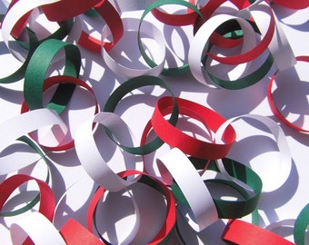 Garland paper Garland white Garland red green Christmas Garland window decorations