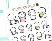 sick day emotis  - emoti planner stickers E055