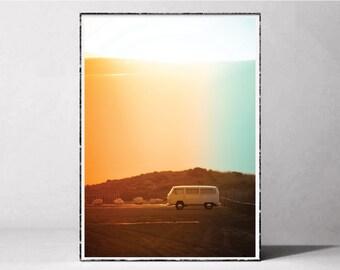 Printable Van, Framed Print, Van Art, Hippie Van, Van Photography, Van Prints, Van Posters, Wall Art, Printable Artwork, Modern Decor, Gifts