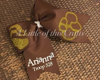 Brownie Girl Scout Cheer Bow