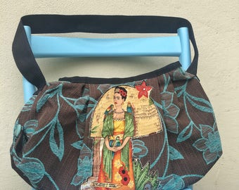 Frida Kahlo bag - Happy and colourful, handmade in Italy with love