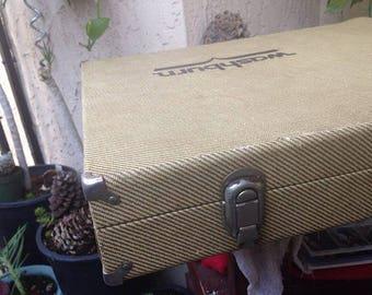 1970s Vintage Washburn case/guitar case/washburn/instrument case/70s vintage/fathers day/mens gifts/tweed/vintage tweed/guitar case