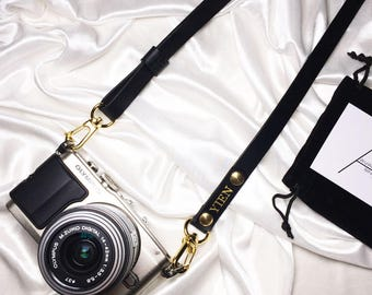 Avaloncraft | Skinny Camera Strap - Italian Leather (Custom, Personalized, Handmade, Monogram)
