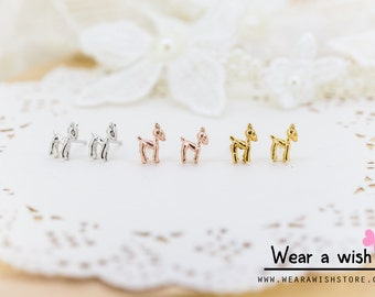 Lovely Cute Deer Animal Earrings (With Luxury Gift Box from Boutique)