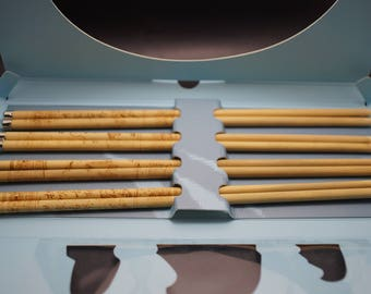 4 pairs of Chinese bamboo wooden chopsticks, Ancient Feeling of The Great Canal, Chinese cultural gift, wooden tableware
