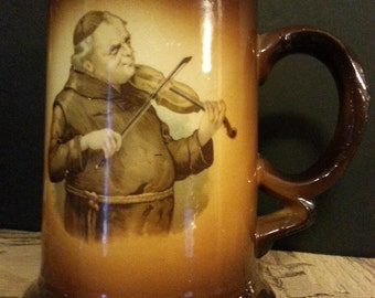 USONA Goodwin Portrait Mug of a Monk Playing Violin
