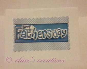 Father's day card. Can be made to order