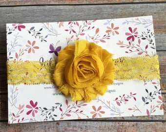 Mustard Baby Headband, Mustard Headband, Fall Headband, Baby Headband, Newborn Headband, Baby Girl Headband, Mustard Yellow Headband, Baby