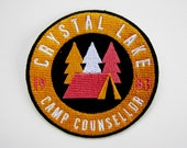 Camp Crystal Lake Counsellor Patch