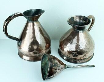 Antique Copper Funnel - 19th Century copper funnel - Victorian antique copper - antique metalware